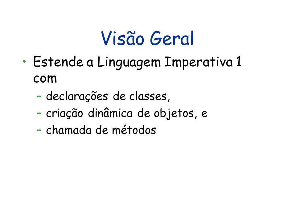 Visão Geral Estende a Linguagem Imperativa 1 com