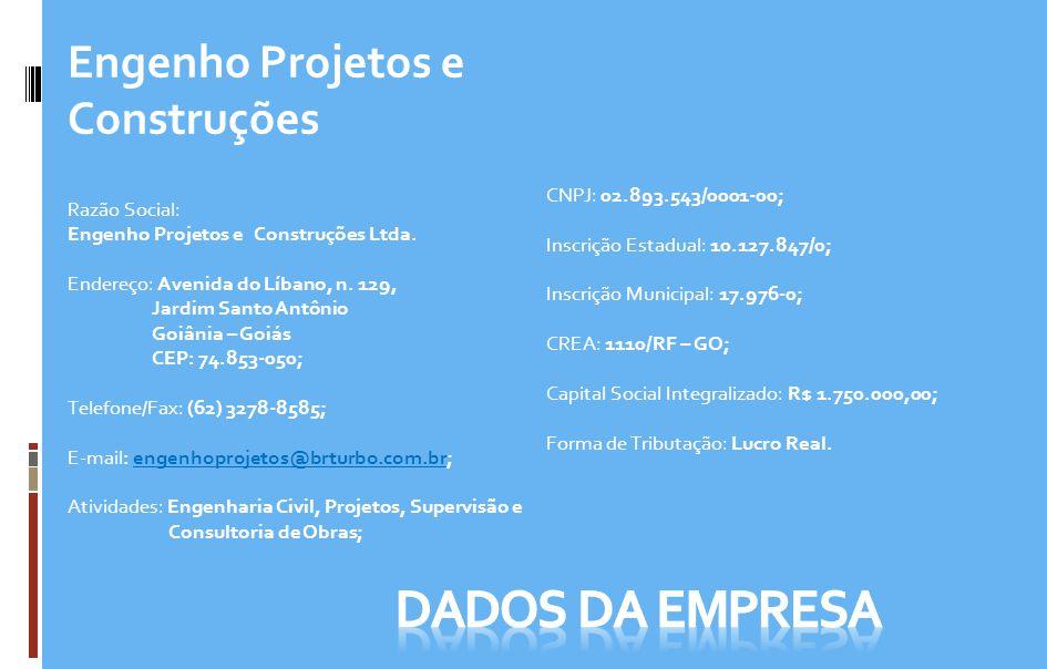 DADOS DA EMPRESA Engenho Projetos e Construções