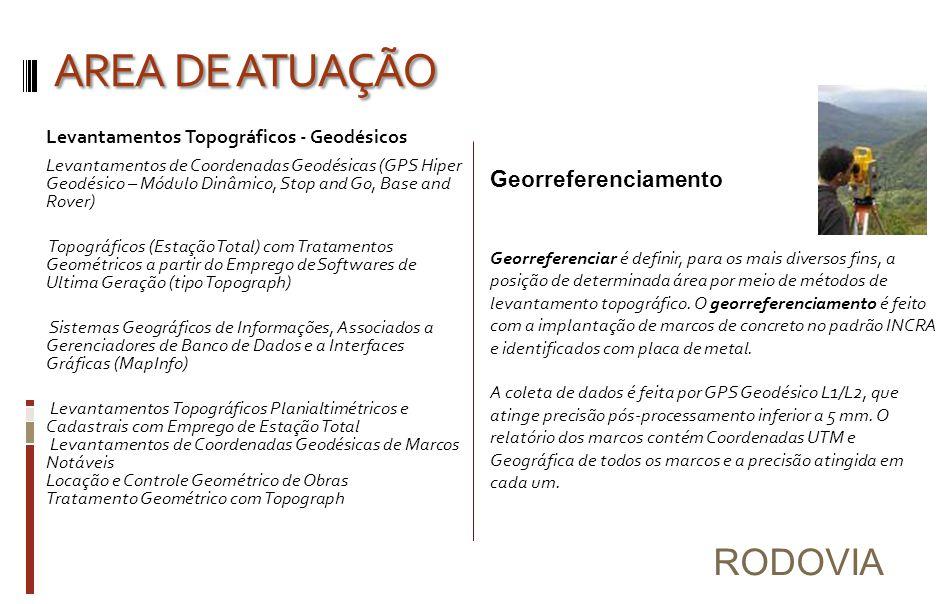 AREA DE ATUAÇÃO RODOVIA Georreferenciamento