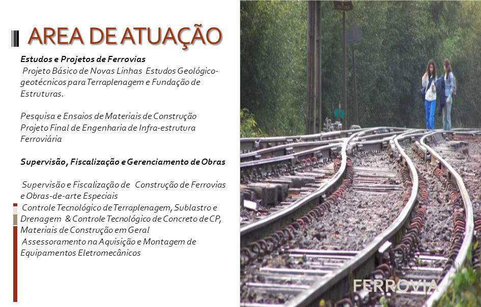 AREA DE ATUAÇÃO FERROVIA
