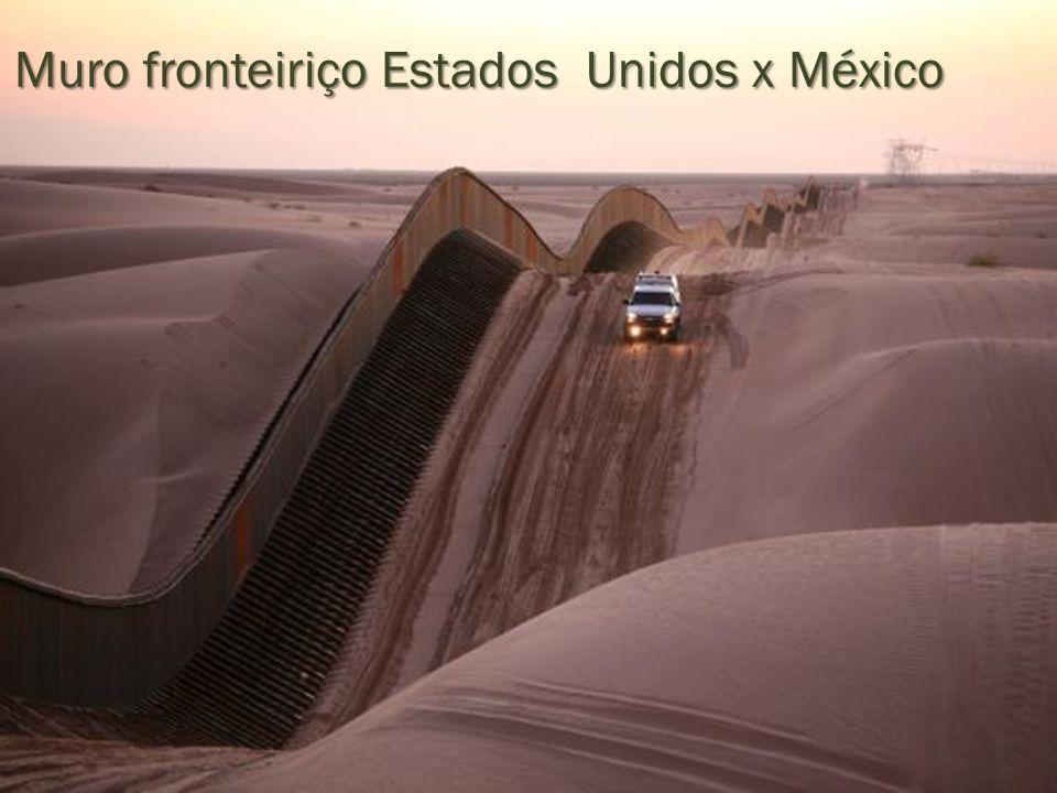 Muro fronteiriço Estados Unidos x México