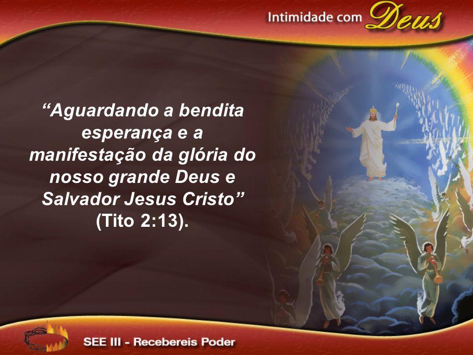 Aguardando a bendita esperança e a manifestação da glória do nosso grande Deus e Salvador Jesus Cristo (Tito 2:13).
