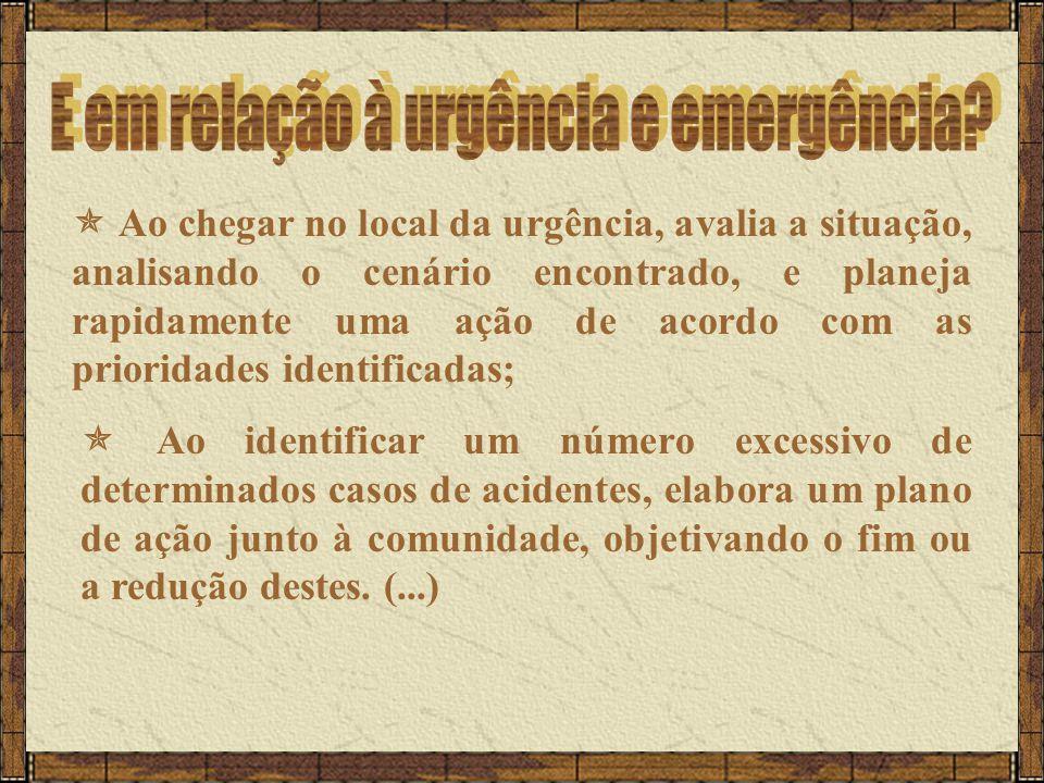 E em relação à urgência e emergência