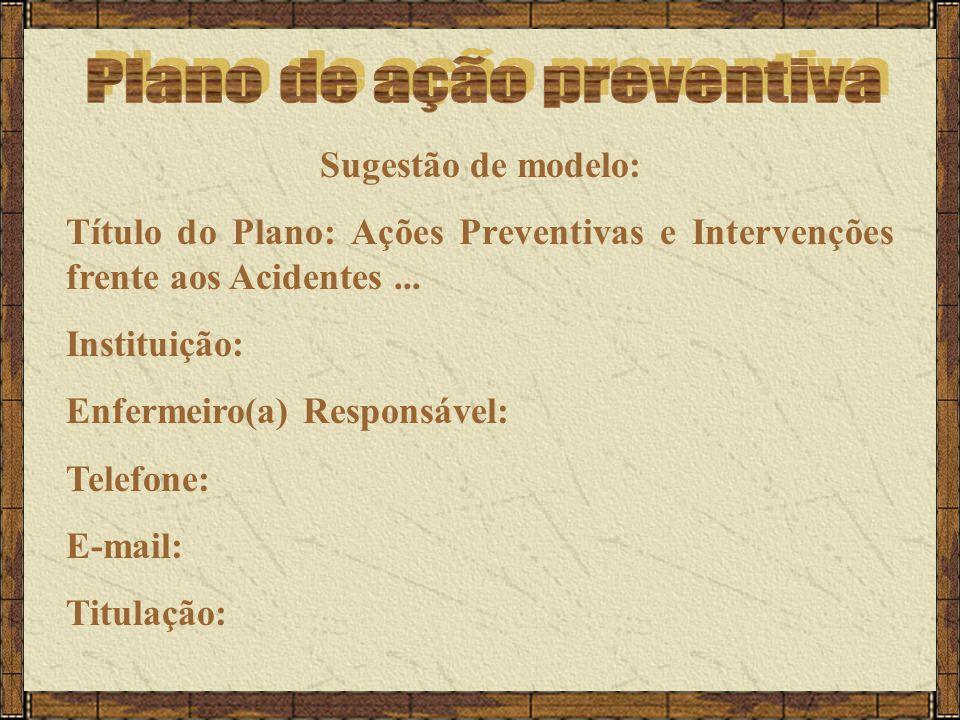 Plano de ação preventiva