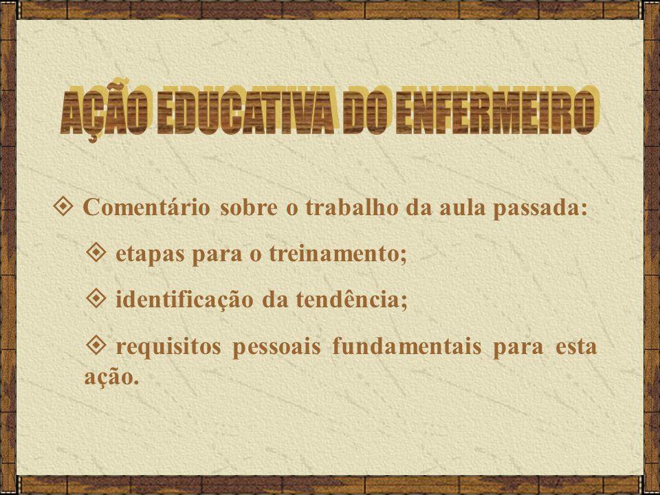 AÇÃO EDUCATIVA DO ENFERMEIRO