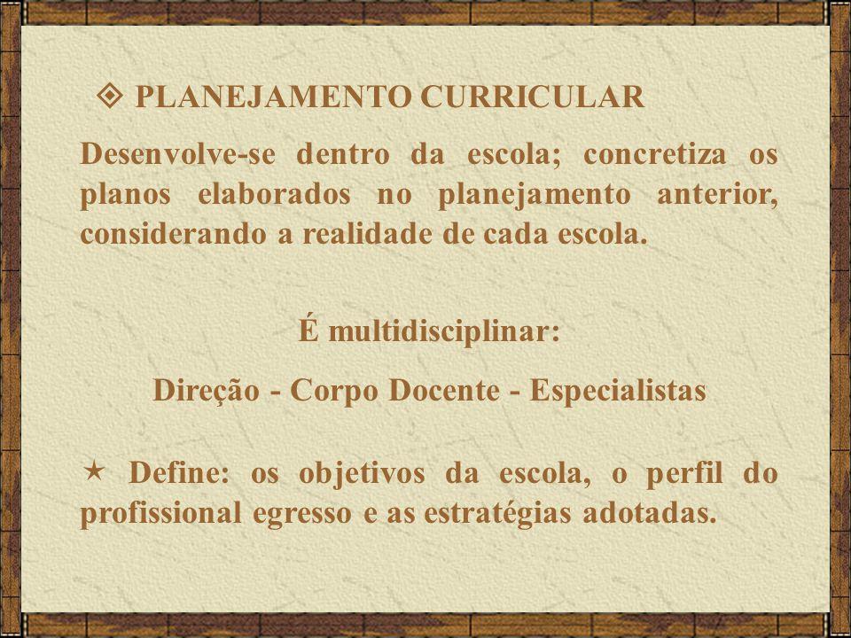 Direção - Corpo Docente - Especialistas