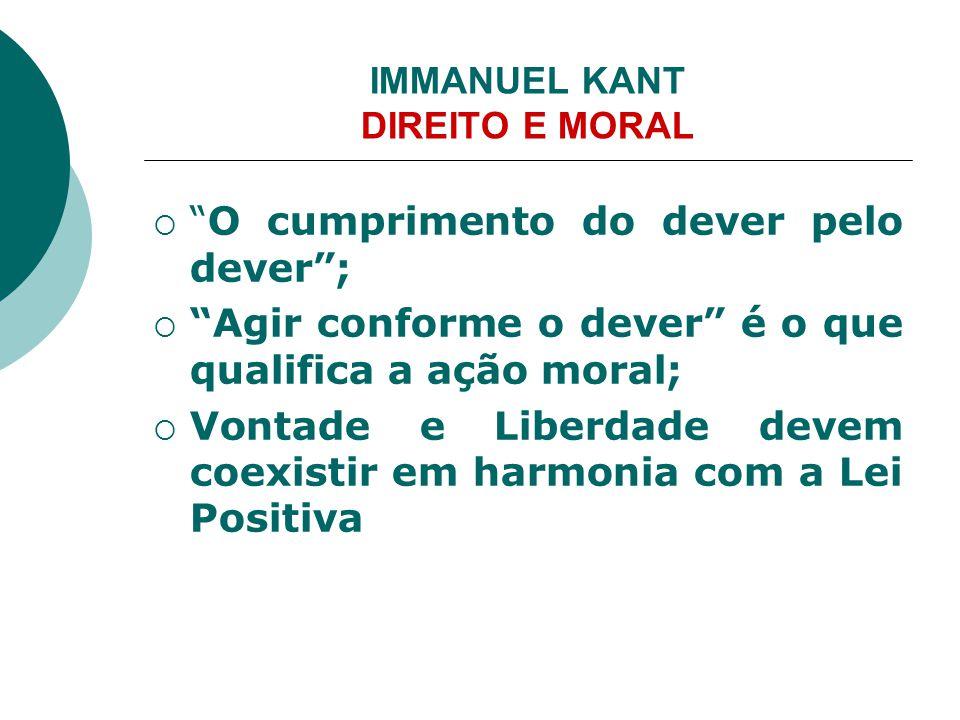 IMMANUEL KANT DIREITO E MORAL