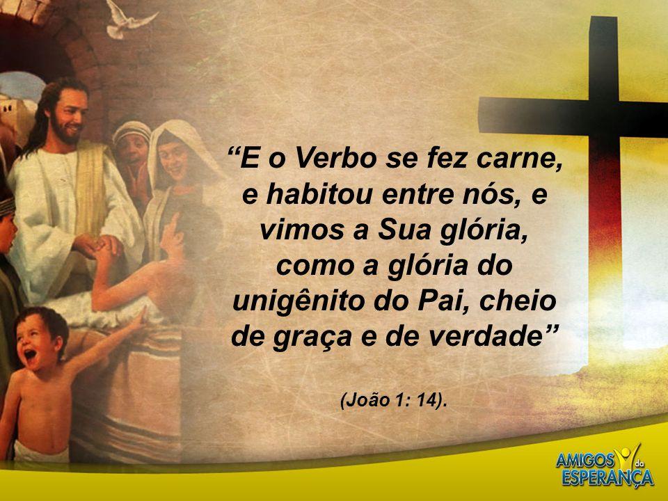 E o Verbo se fez carne, e habitou entre nós, e vimos a Sua glória, como a glória do unigênito do Pai, cheio de graça e de verdade