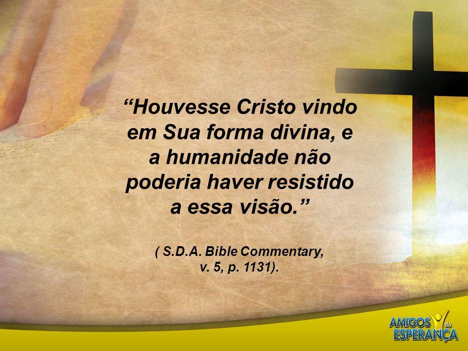 Houvesse Cristo vindo em Sua forma divina, e a humanidade não poderia haver resistido a essa visão.