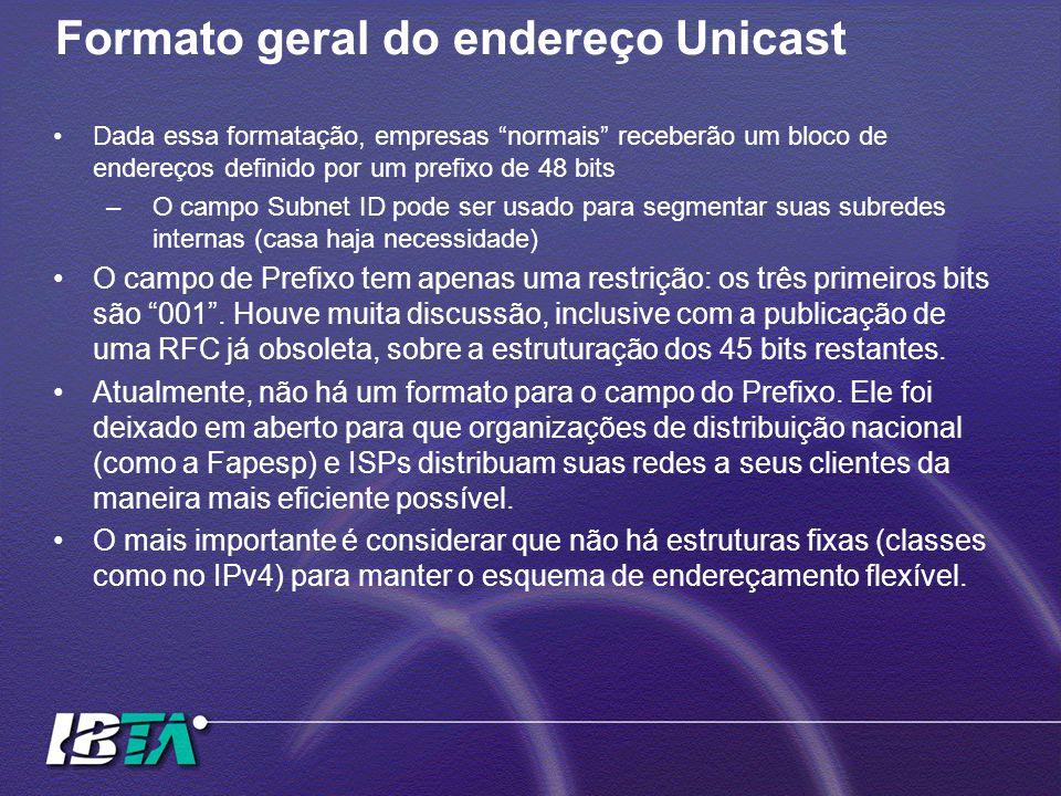Formato geral do endereço Unicast