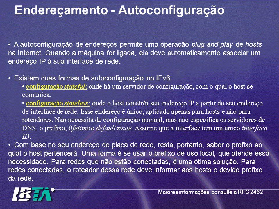 Endereçamento - Autoconfiguração