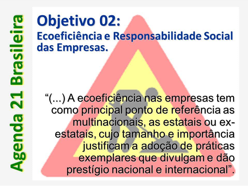 Agenda 21 Brasileira Objetivo 02: