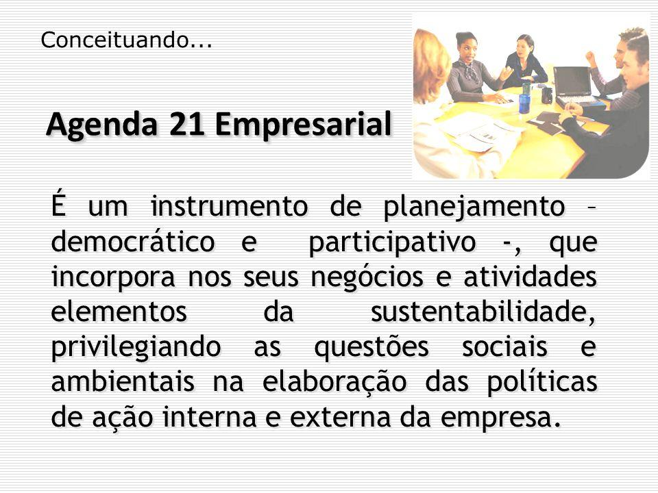 Conceituando... Agenda 21 Empresarial.