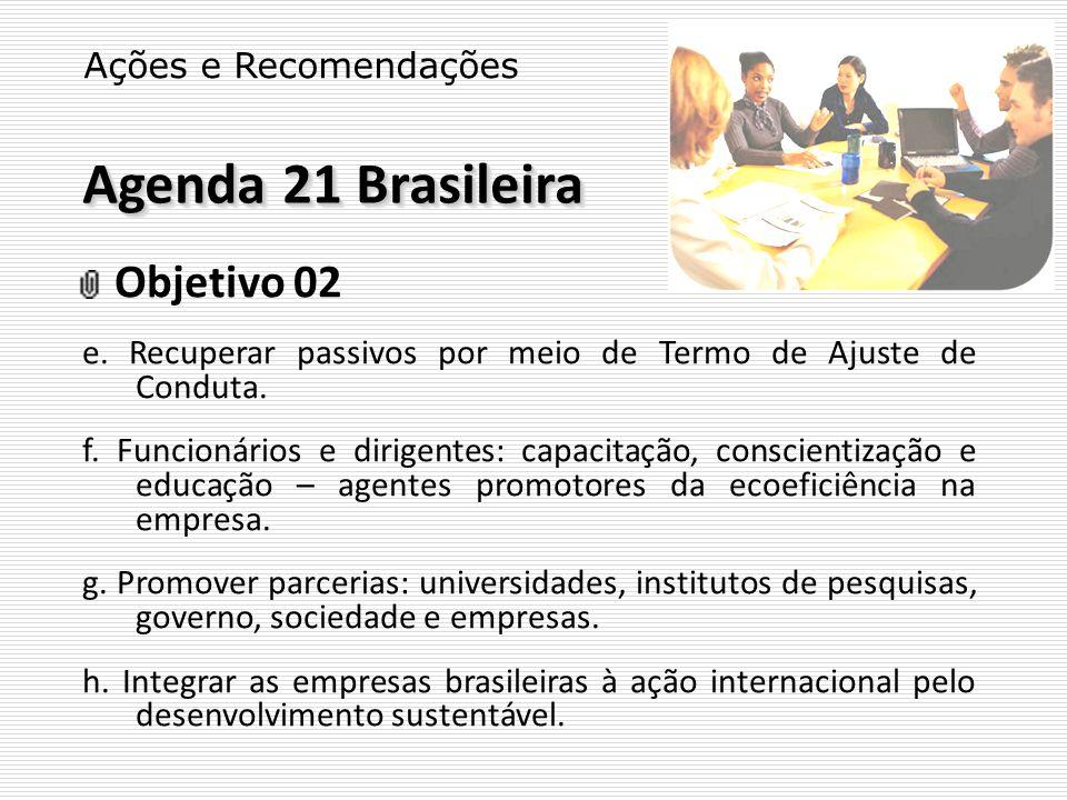 Agenda 21 Brasileira Objetivo 02 Ações e Recomendações