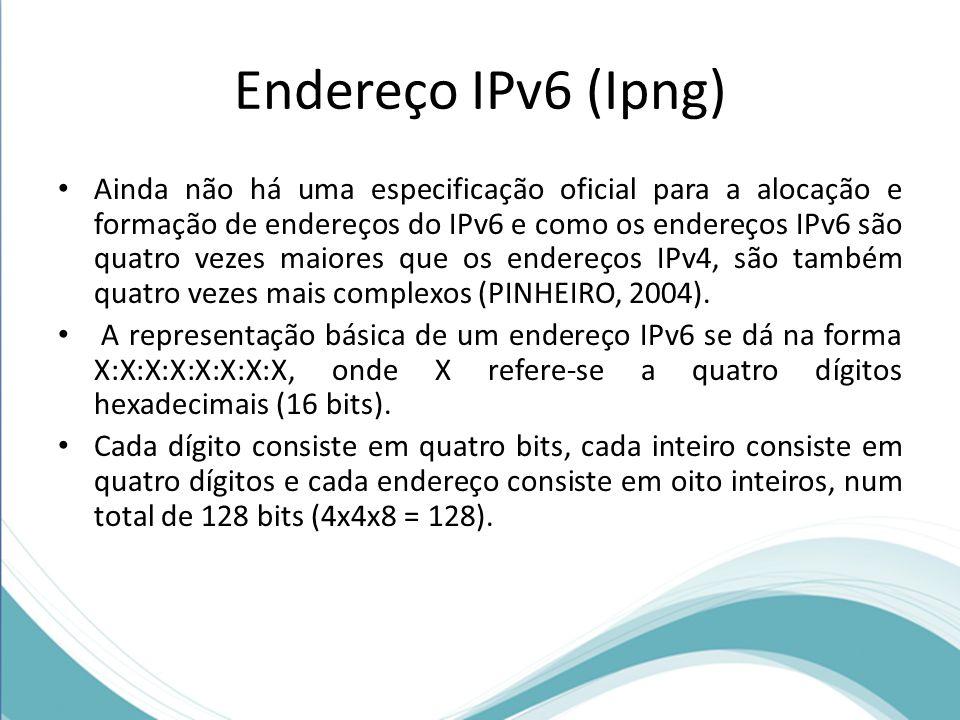 Endereço IPv6 (Ipng)