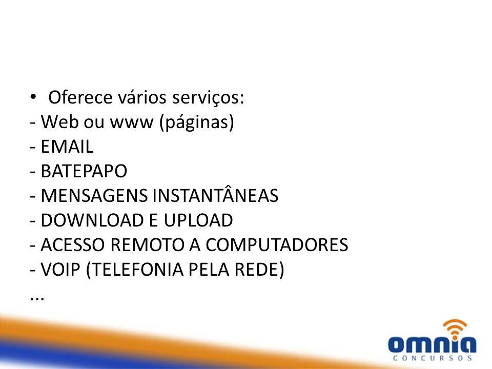 Oferece vários serviços: