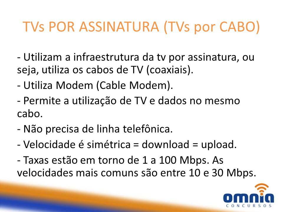 TVs POR ASSINATURA (TVs por CABO)