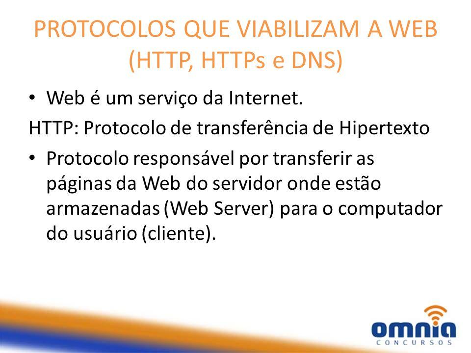 PROTOCOLOS QUE VIABILIZAM A WEB (HTTP, HTTPs e DNS)