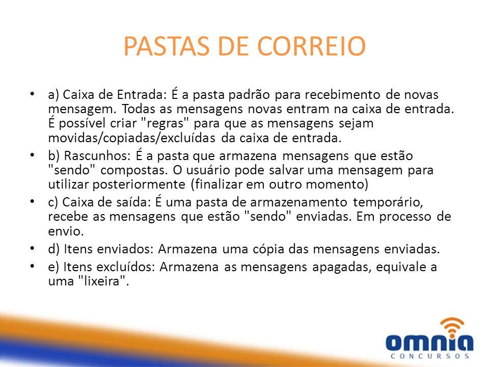 PASTAS DE CORREIO