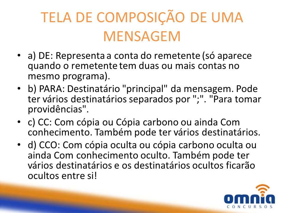 TELA DE COMPOSIÇÃO DE UMA MENSAGEM