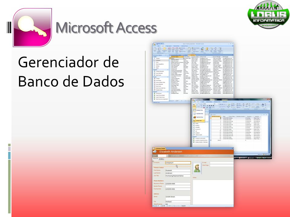 Microsoft Access Gerenciador de Banco de Dados