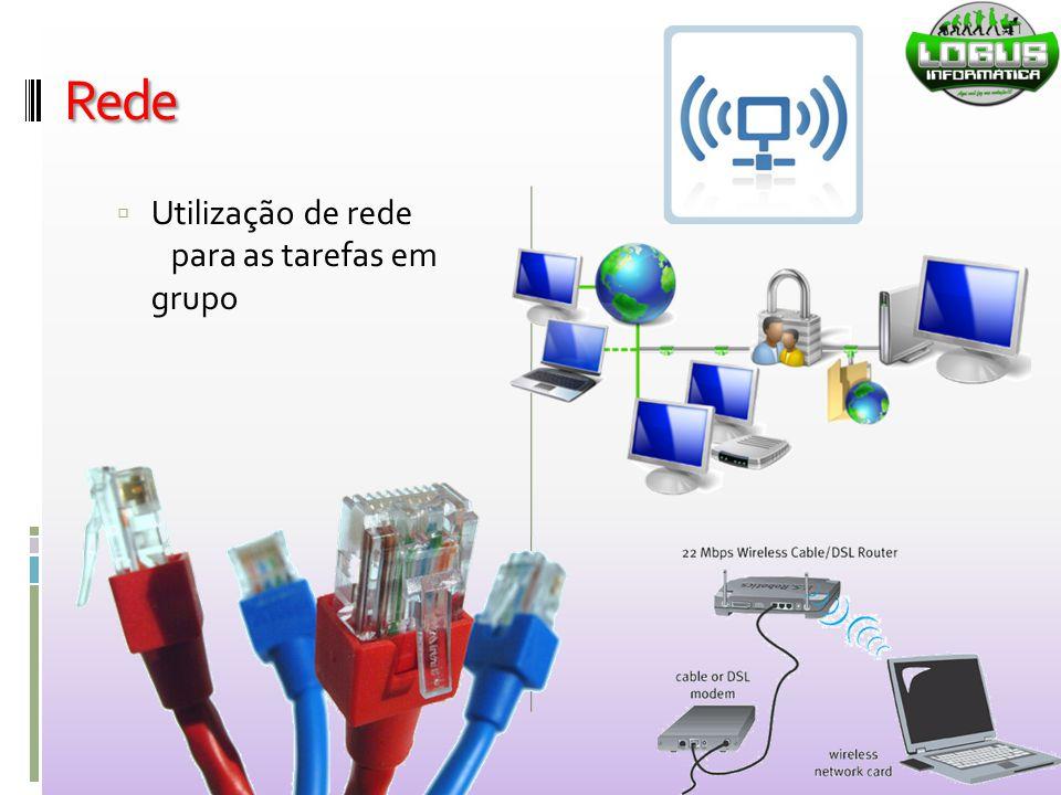 Rede Utilização de rede para as tarefas em grupo