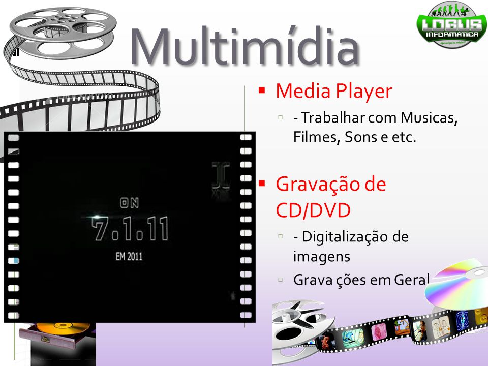 Multimídia Media Player Gravação de CD/DVD