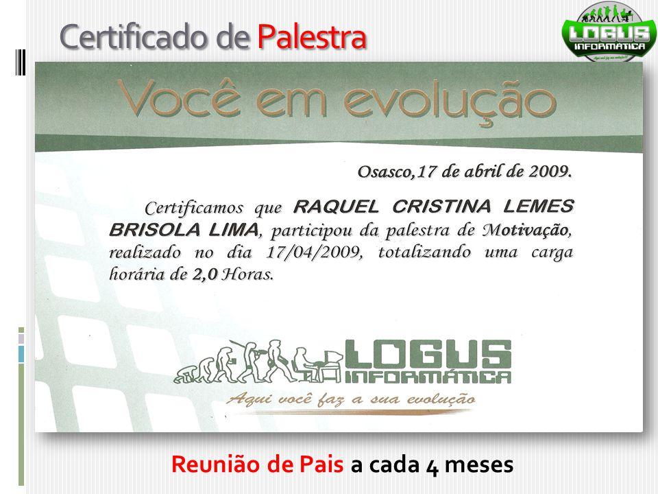 Certificado de Palestra