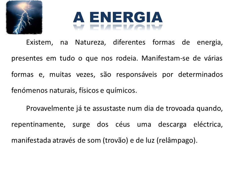 A ENERGIA