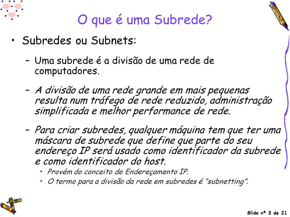 O que é uma Subrede Subredes ou Subnets: