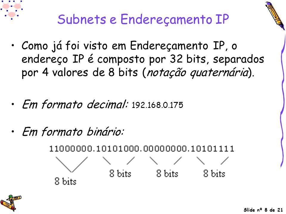 Subnets e Endereçamento IP