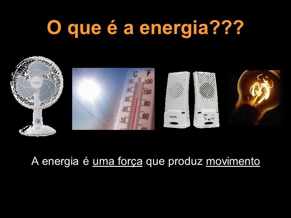 A energia é uma força que produz movimento