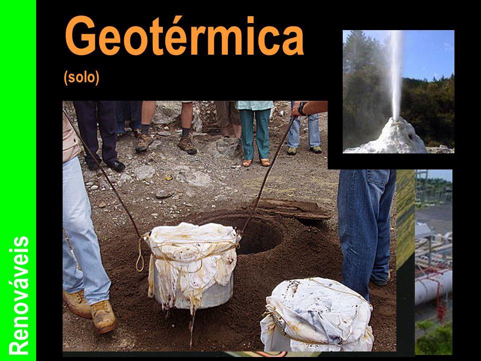 Geotérmica (solo) Renováveis