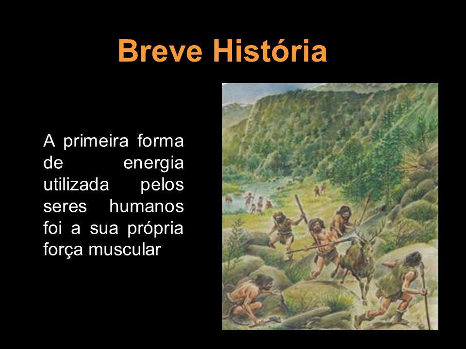 Breve História A primeira forma de energia utilizada pelos seres humanos foi a sua própria força muscular.
