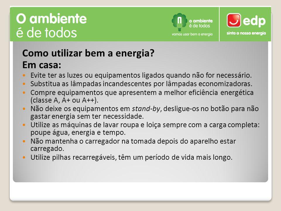 Como utilizar bem a energia Em casa: