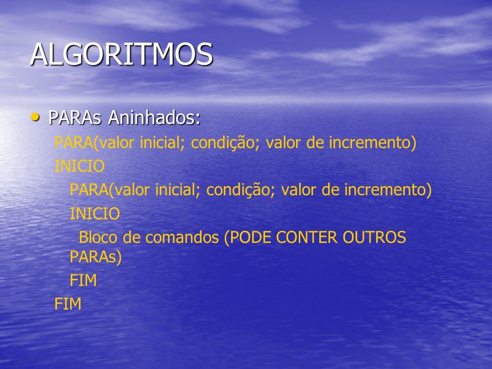 ALGORITMOS PARAs Aninhados: