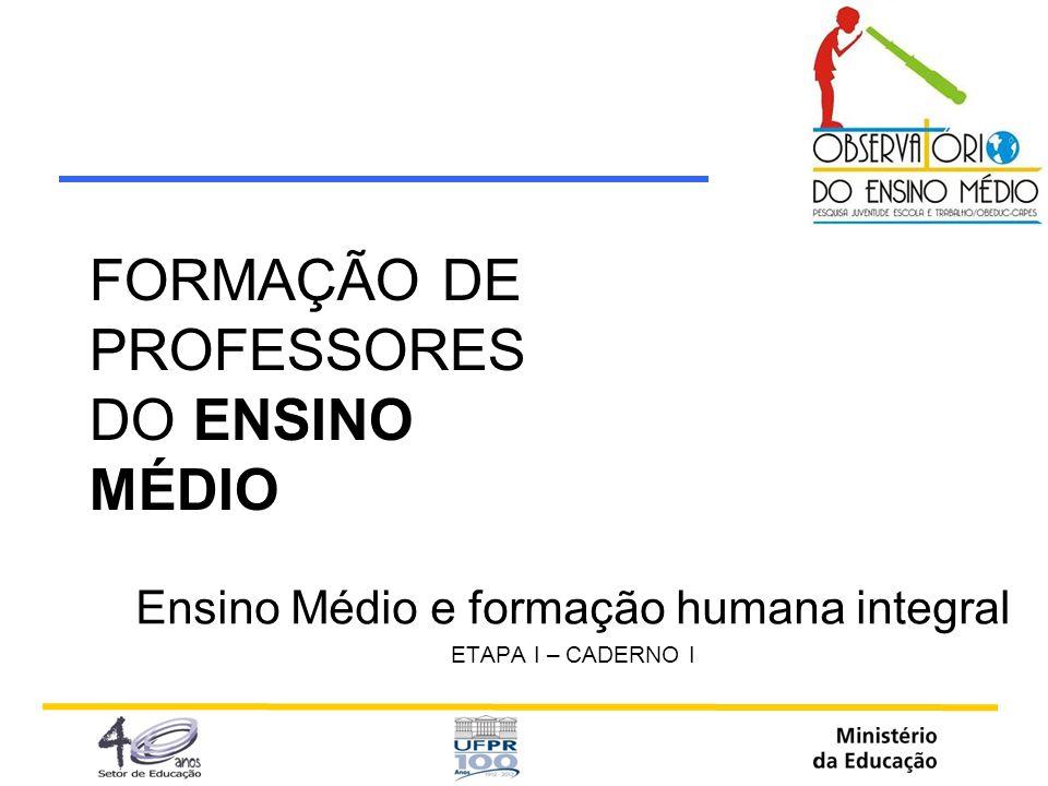 FORMAÇÃO DE PROFESSORES DO ENSINO MÉDIO