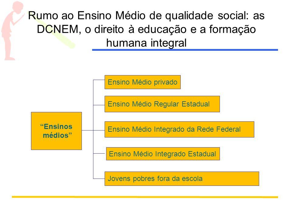 Rumo ao Ensino Médio de qualidade social: as DCNEM, o direito à educação e a formação humana integral