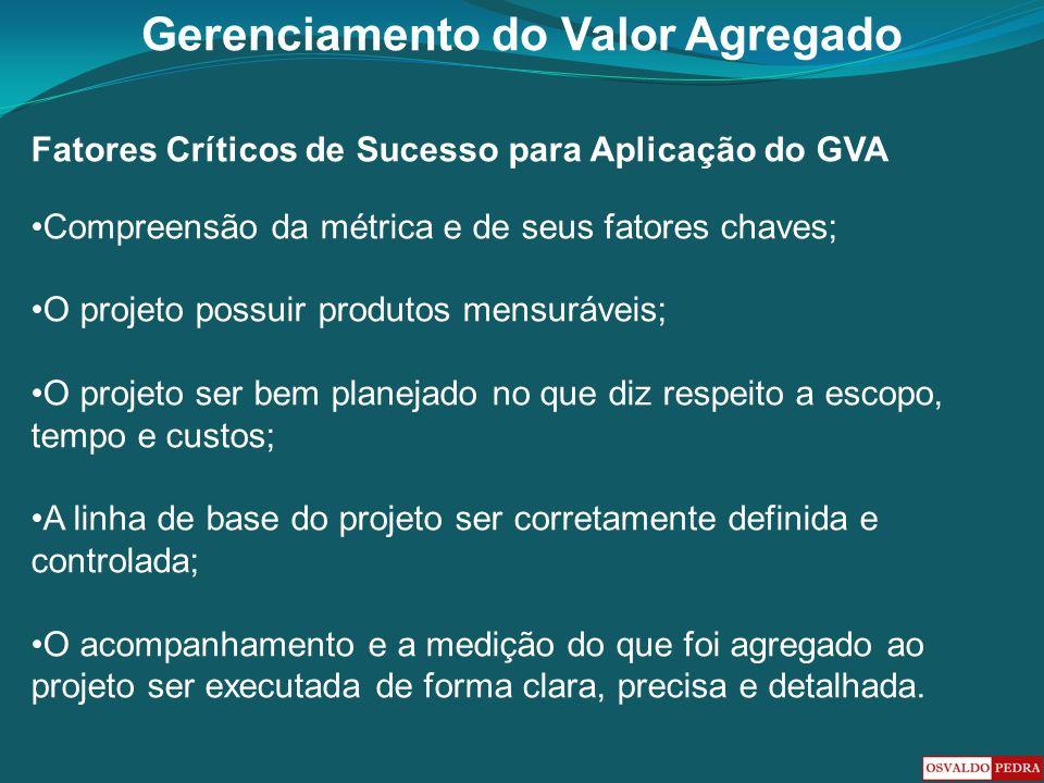 Fatores Críticos de Sucesso para Aplicação do GVA