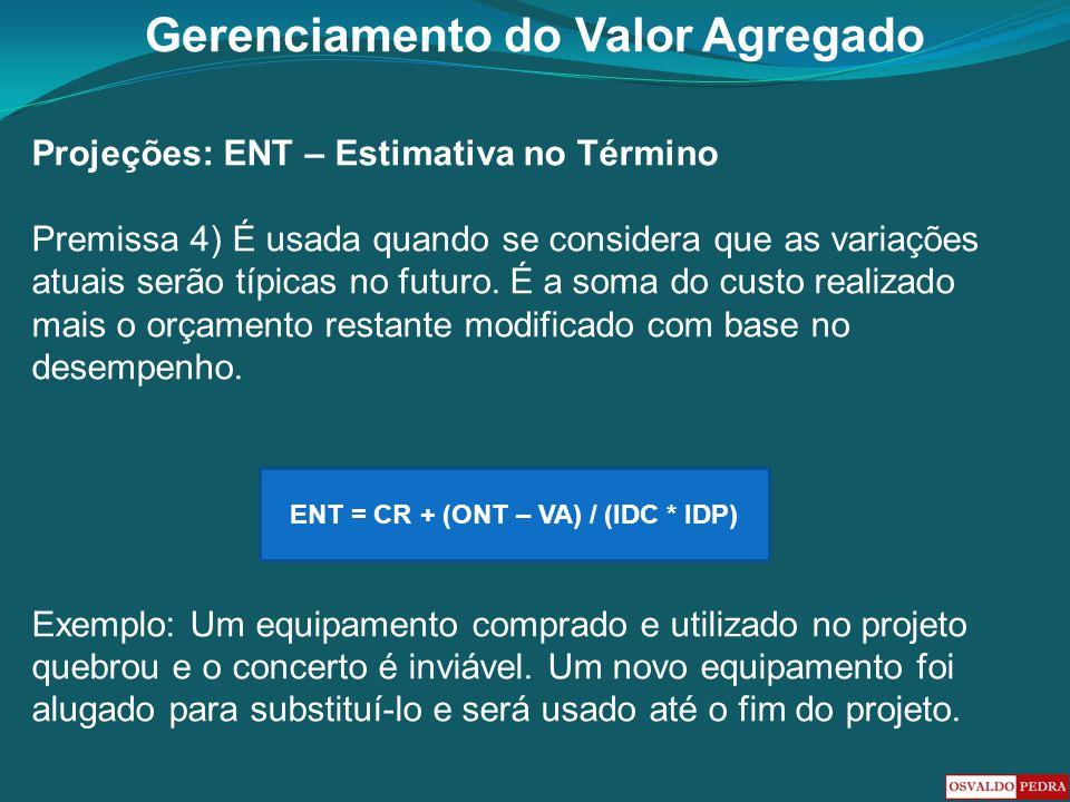 ENT = CR + (ONT – VA) / (IDC * IDP)