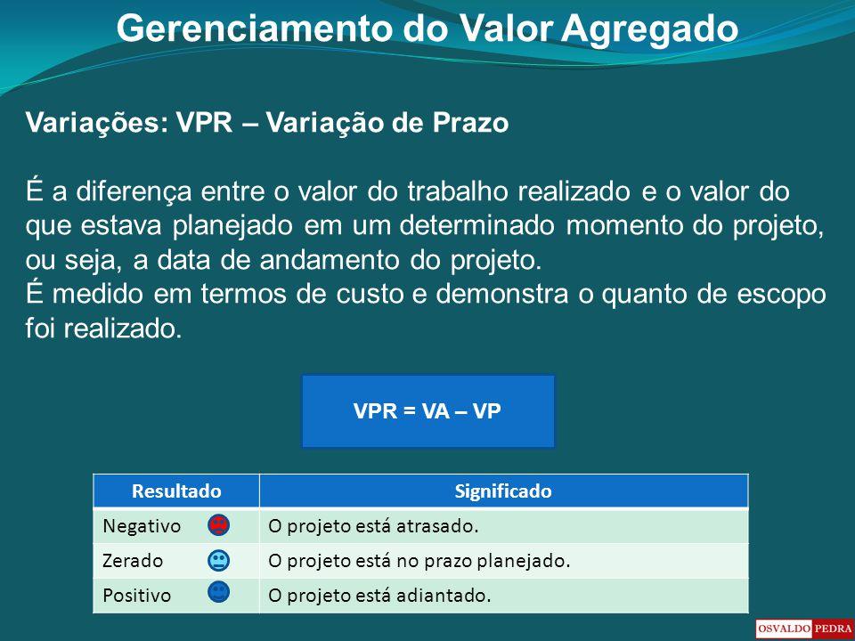 Variações: VPR – Variação de Prazo