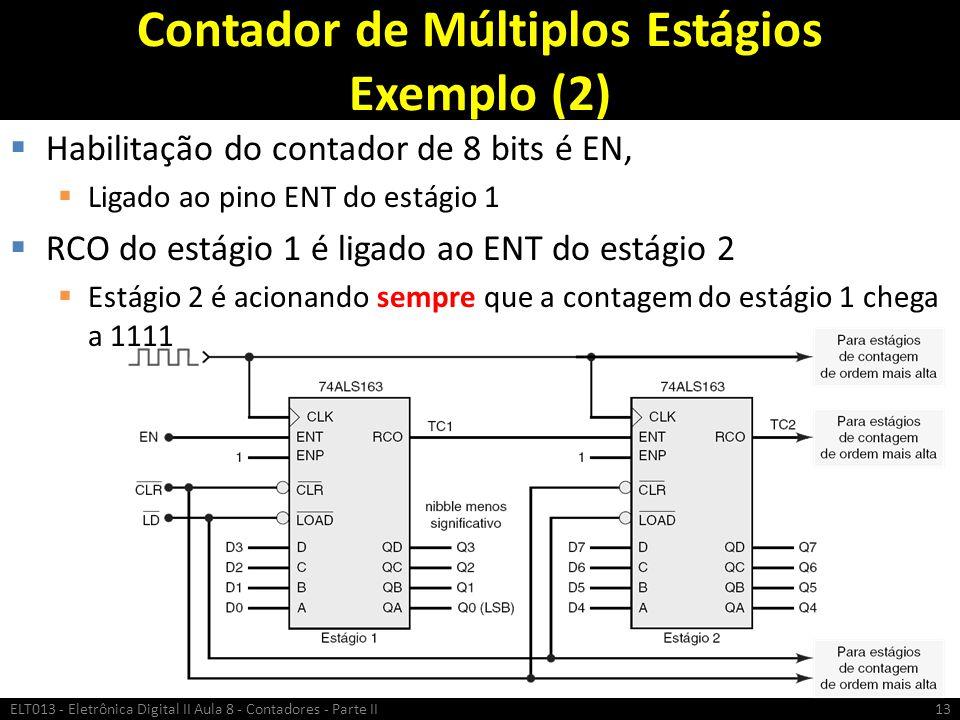 Contador de Múltiplos Estágios Exemplo (2)
