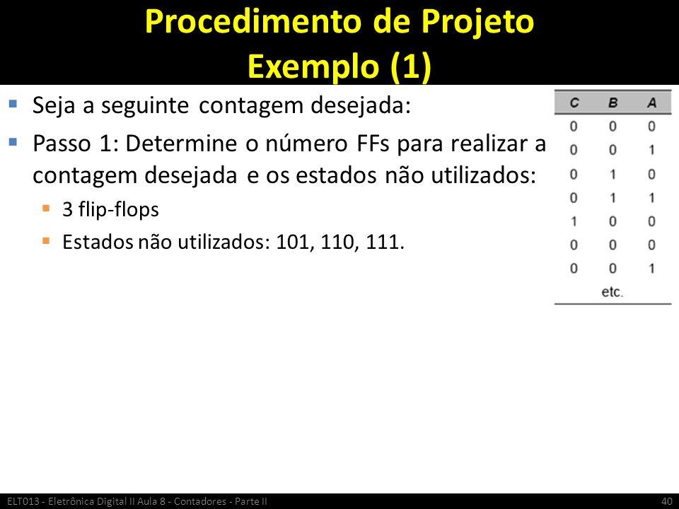 Procedimento de Projeto Exemplo (1)