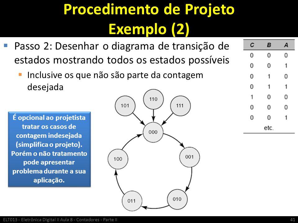 Procedimento de Projeto Exemplo (2)
