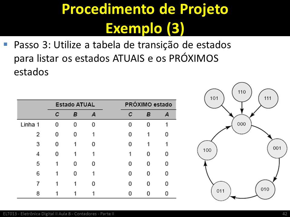 Procedimento de Projeto Exemplo (3)
