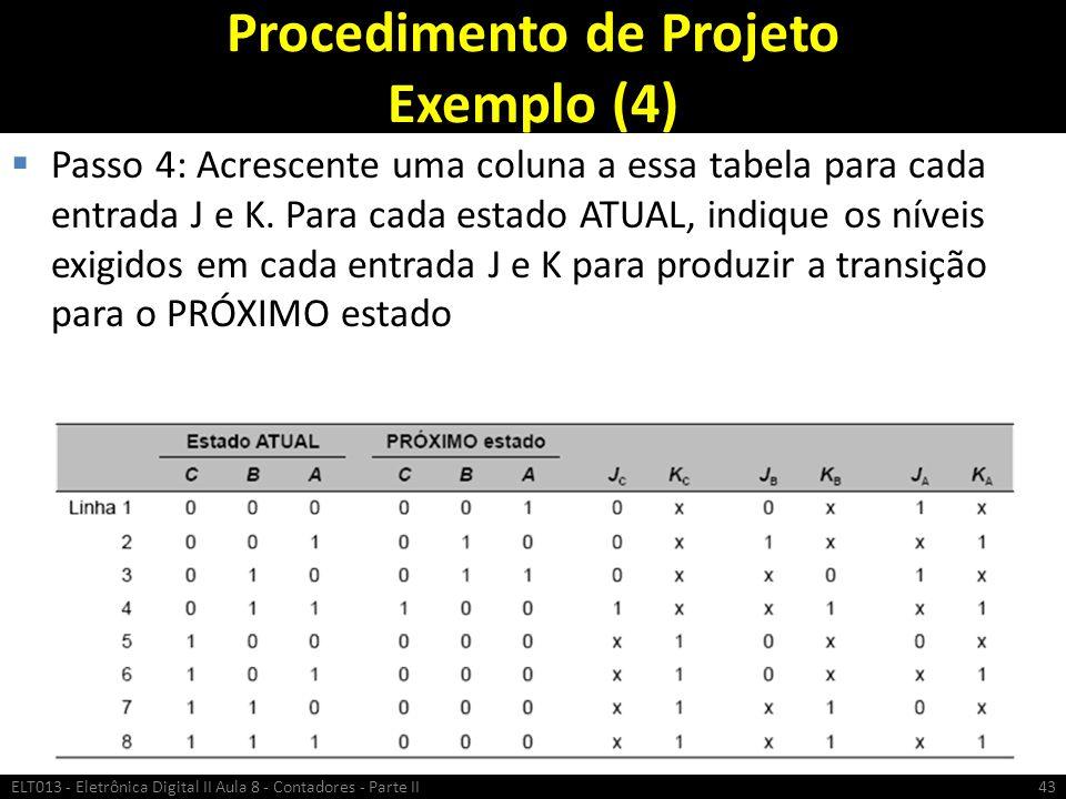 Procedimento de Projeto Exemplo (4)