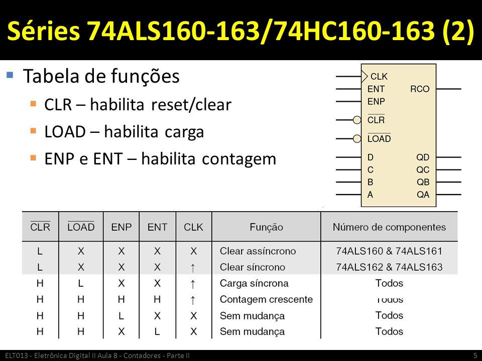 Séries 74ALS160-163/74HC160-163 (2) Tabela de funções