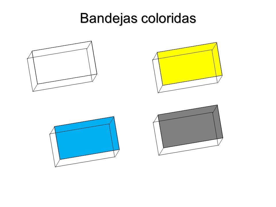 Bandejas coloridas