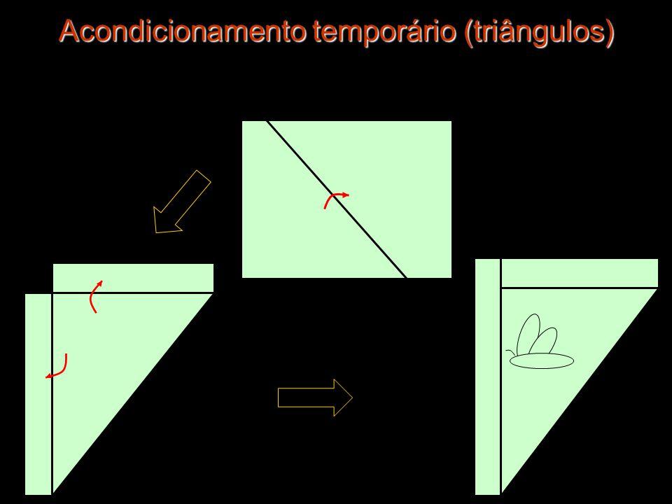 Acondicionamento temporário (triângulos)
