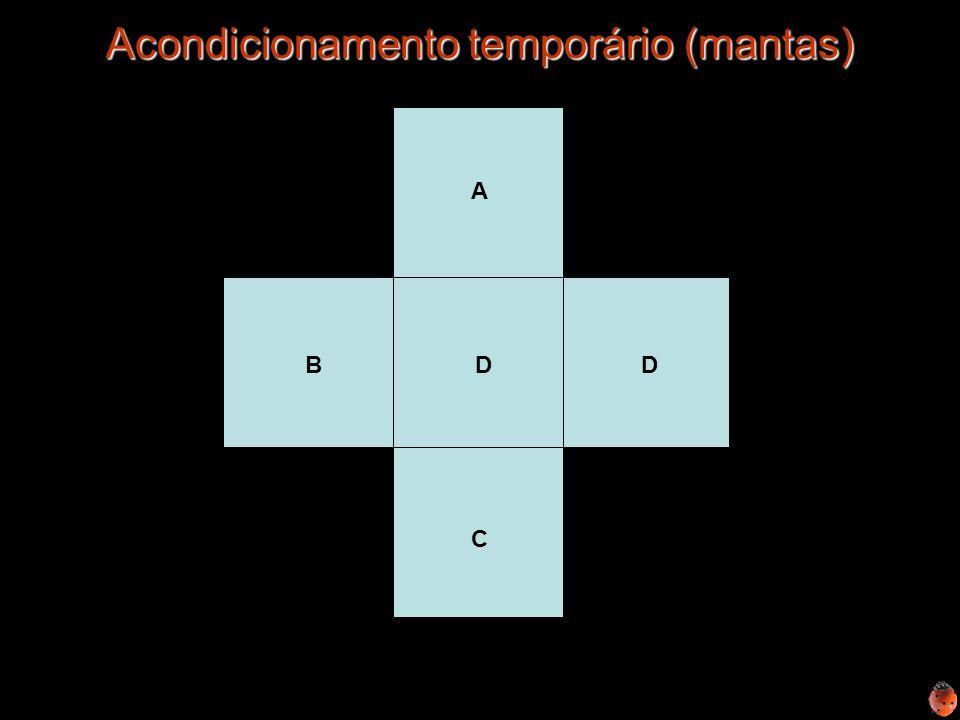 Acondicionamento temporário (mantas)